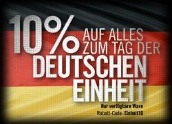 Sparen Sie beim TACWRK zusätzliche 10% zum Tag der deutschen Einheit 2013!
