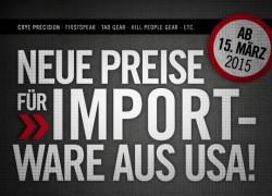 Neue Preise beim TACWRK. Preise für US-Waren steigen!
