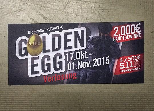 GoldenEgg Verlosung Raffle TACWRK 2015