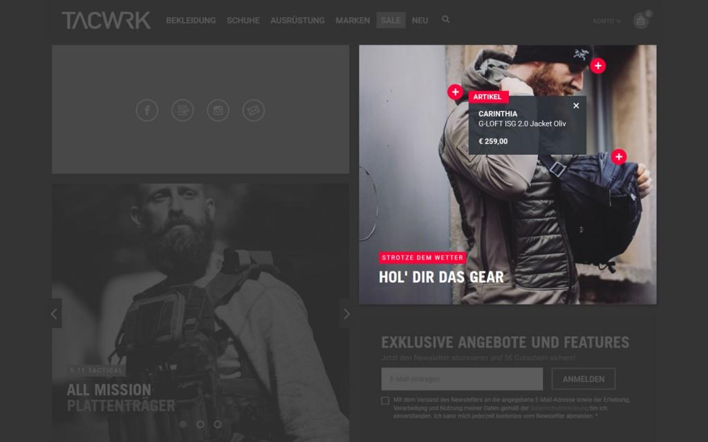 Shop the Look TACWRK.com Onlineshop