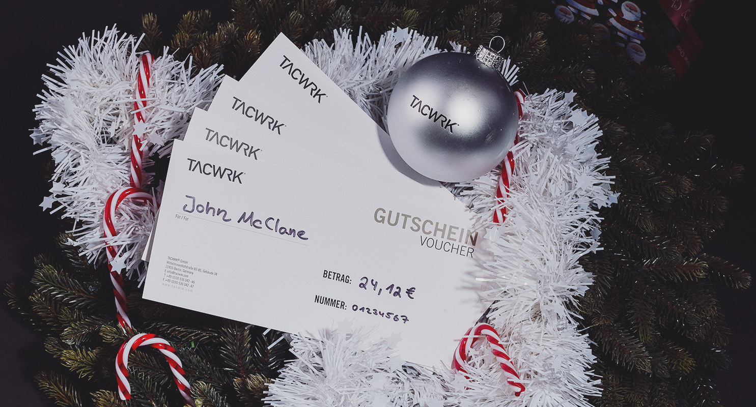 Wunschbetrag Gutscheine TACWRK Weihnachten