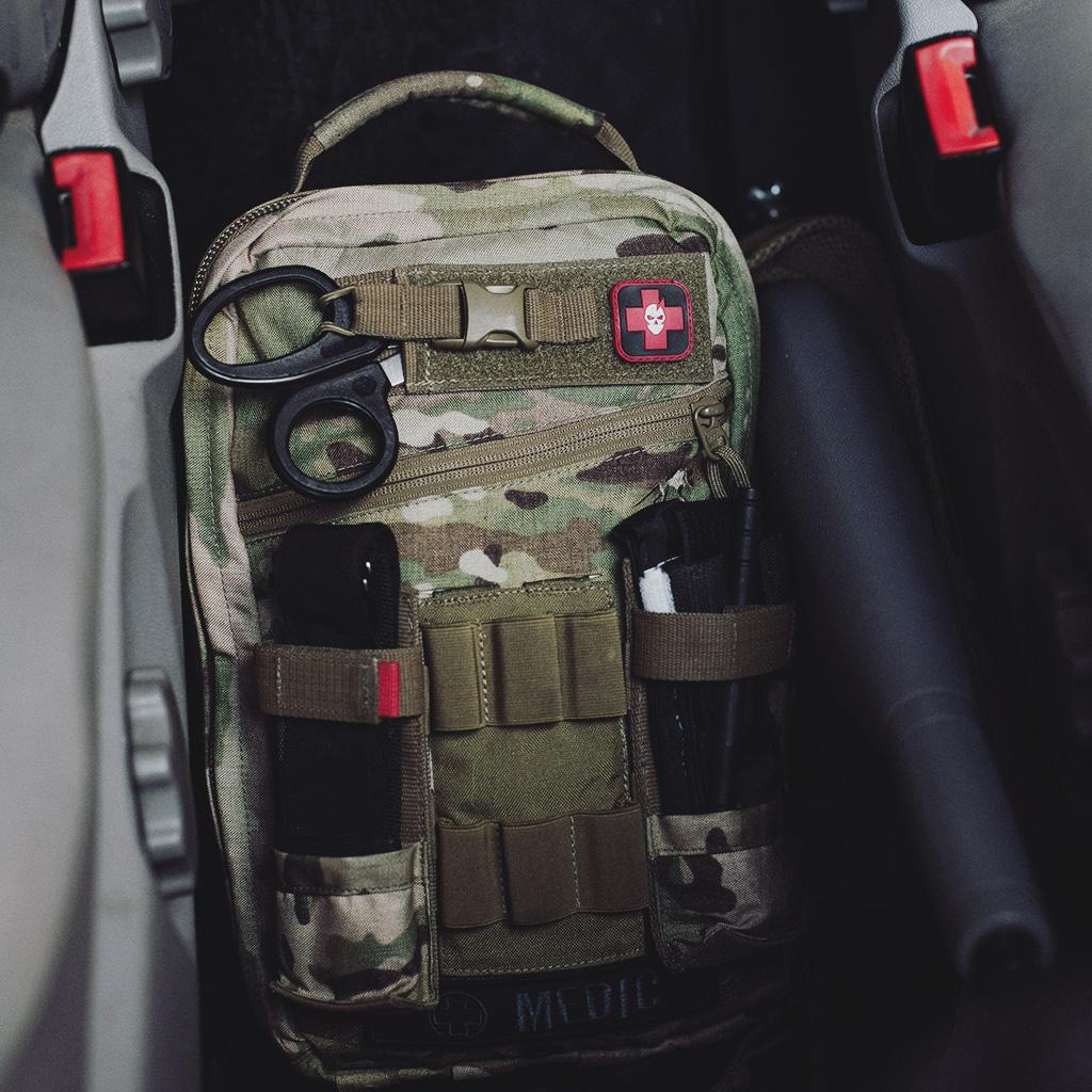 Bommel Responder Bundle: 1x TT Medic Assault Pack S Multicam - 2x TT Tourniquet Pouch - 1x TT 6rd Shotgun Holder