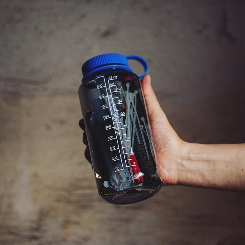 Nalgene Trinkflasche als Survival Container