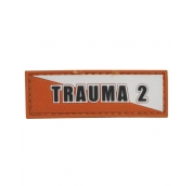 Trauma 2 Orange White Patch