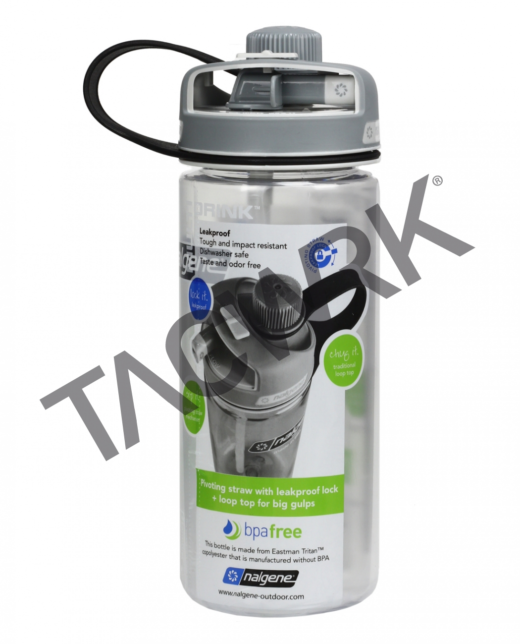 a6c89282aa Nalgene Nalgene Bottle Multi Drink 0,6 L Transparent - TACWRK