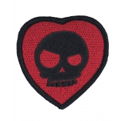 (642) Mean T-Skull Bloody Valentine Patch Black
