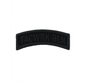 Bow Patch Stitched Black