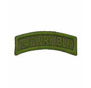 Bow Patch Stitched Olive