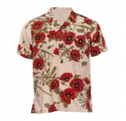 Aloha Shirt Poppies of War Vintage