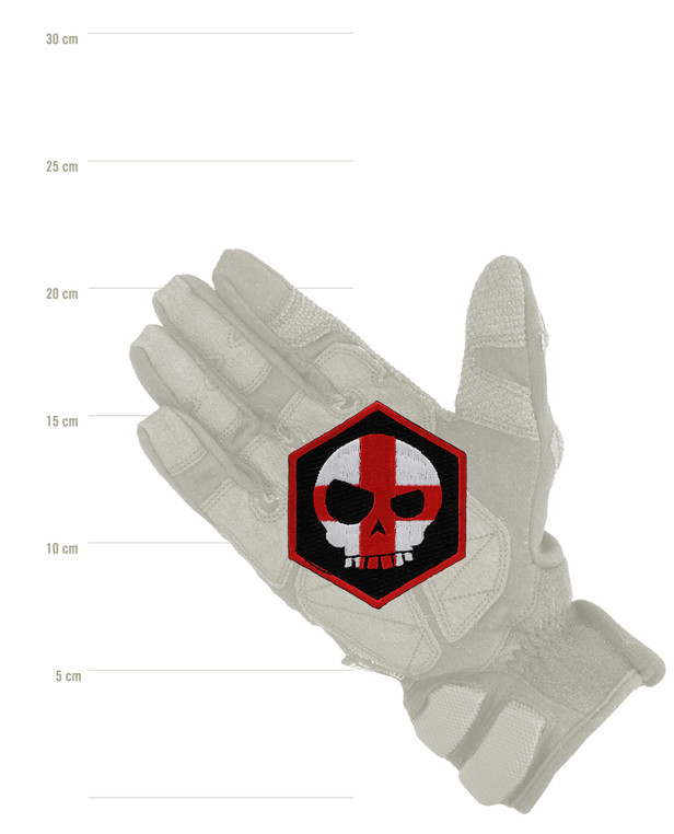 Triple Aught Design Mean T-Skull Cross Hex Patch