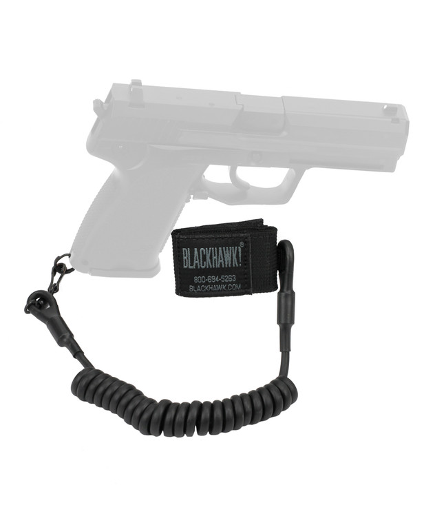 Blackhawk! Tactical Pistol Lanyard Single-Swivel Black