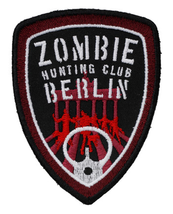 TACWRK - Zombie Hunting Club Patch Red