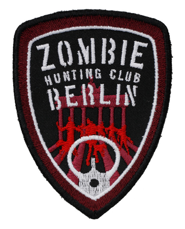 TACWRK Zombie Hunting Club Patch Red