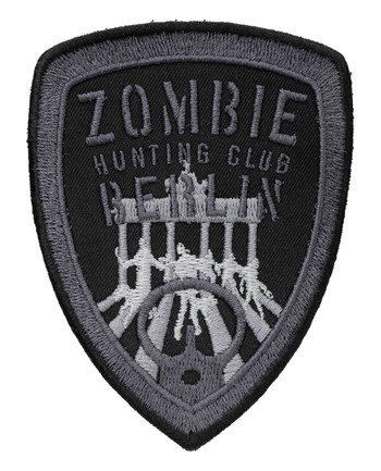 TACWRK - Zombie Hunting Club Patch Schwarz