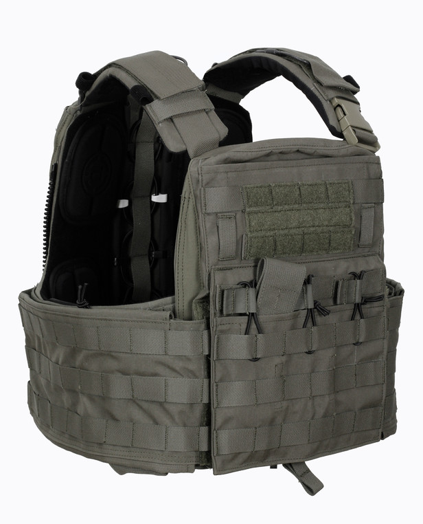 Crye Precision CAGE Plate Carrier + Plate Pouch Set Ranger Green