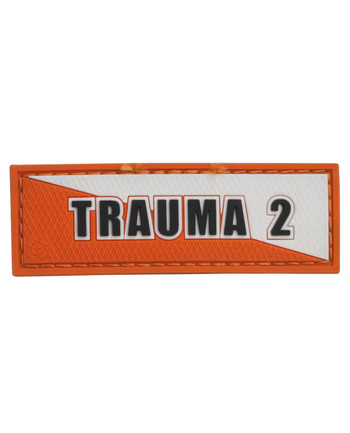 Tactical Responder - Trauma 2 Orange White Patch