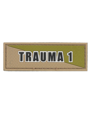 Tactical Responder - Trauma 1 Tan Green Patch