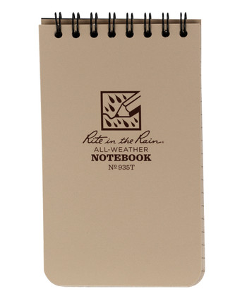 "Rite in the Rain - Tactical Pocket Notebook 3 x 5"" Tan"