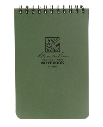 Rite in the Rain - Tactical Pocket Notebook 4 x 6 Green