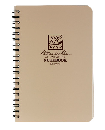 Rite in the Rain - Tactical Side Spiral Notebook 4 5/8 x 7 Tan