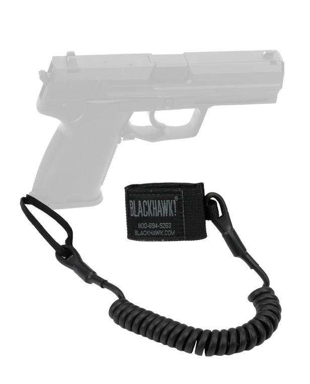Blackhawk! Tactical Pistol Lanyard Coil Black