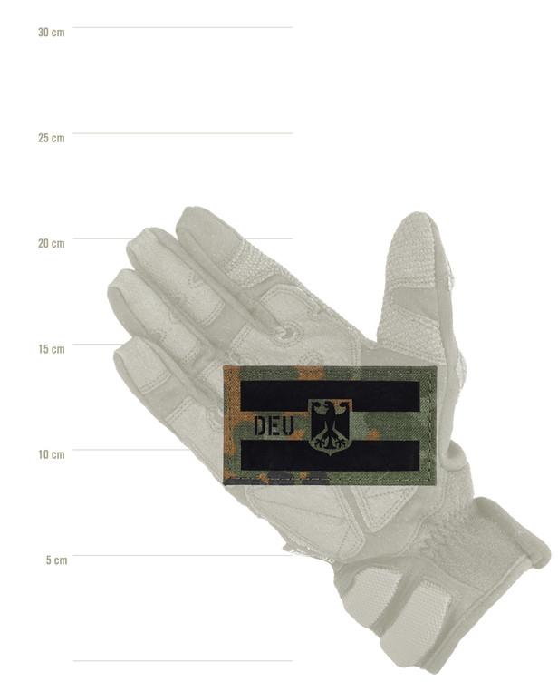 TACWRK Deutschland Flagge Camo 5FT, Folie: IR SOLAS