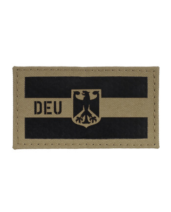 TACWRK - Deutschland Flagge Camo: Coyote Brown, Folie: IR SOLAS