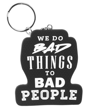 TACWRK - We do Bad Things to Bad People Key Holder Black