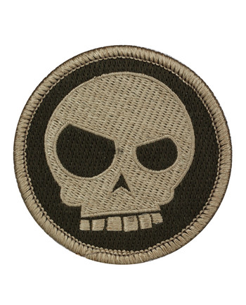 Triple Aught Design - Mean T-skull Patch Desolation
