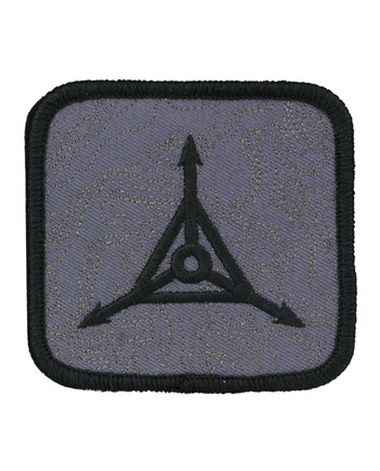 Triple Aught Design - (622) Topo Logo Patch Black