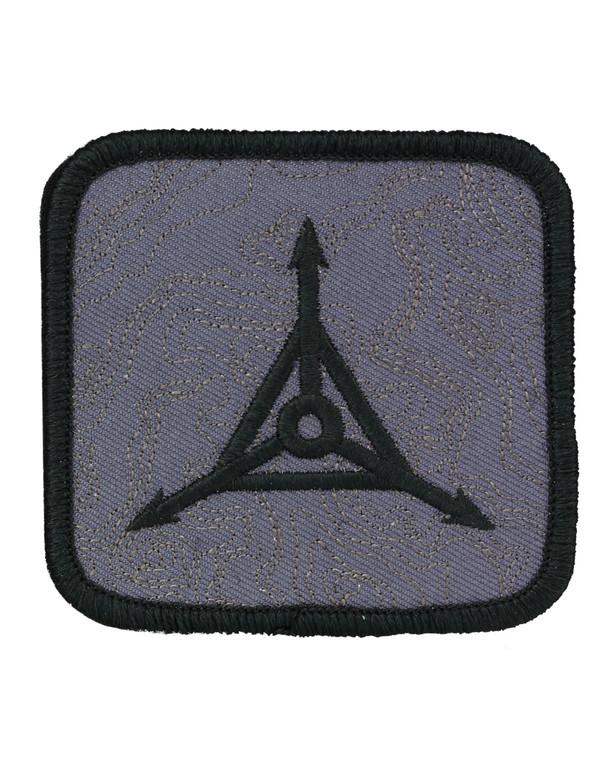 Triple Aught Design Topo Logo Patch Black