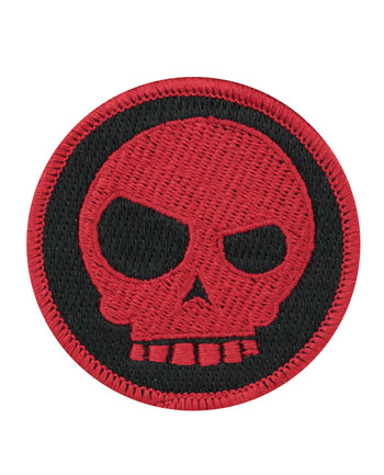 Triple Aught Design - (625) Mean T-skull Patch Red