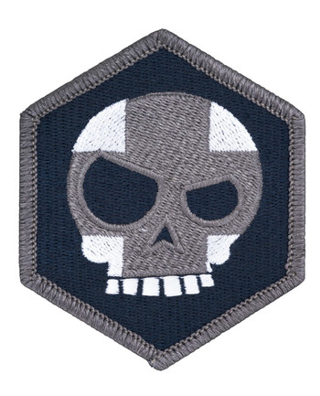 Triple Aught Design - (644) Mean T Skull Cross Hex Patch Siege