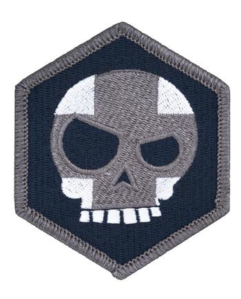 Triple Aught Design - Mean T Skull Cross Hex Patch Siege