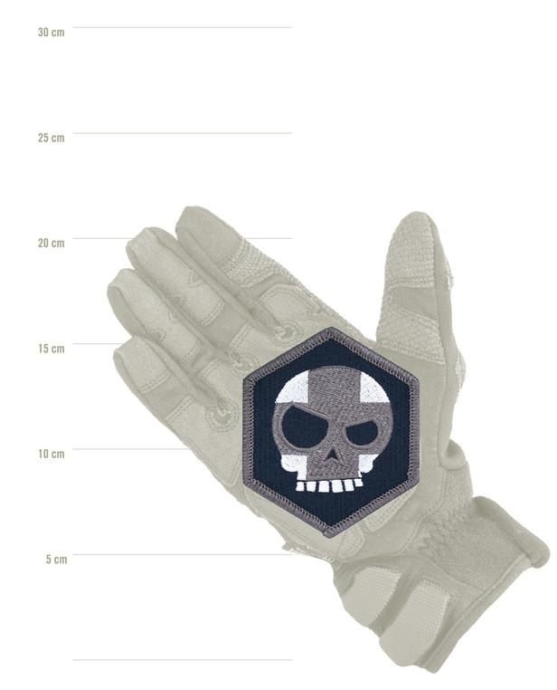 Triple Aught Design Mean T Skull Cross Hex Patch Siege