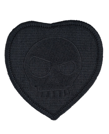 Triple Aught Design - (641) Mean T-Skull Bloody Valentine Patch Blackout