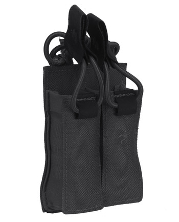 TASMANIAN TIGER - DBL Pistol Mag Pouch VL M4 Black