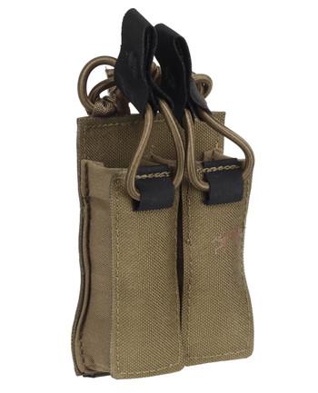 TASMANIAN TIGER - DBL Pistol Mag Pouch VL M4 Coyote Brown