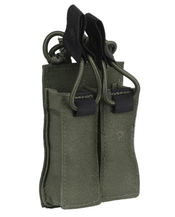TASMANIAN TIGER - DBL Pistol Mag Pouch VL M4 Olive
