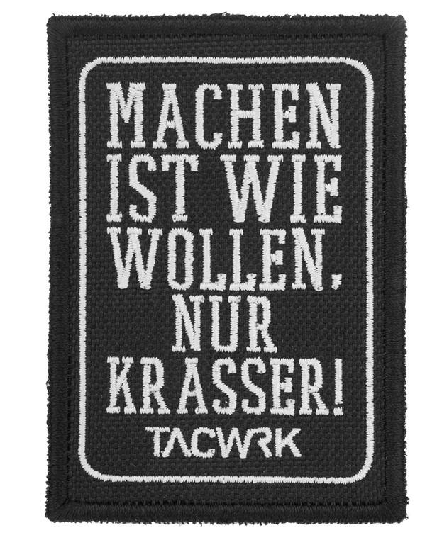 TACWRK 654 Machen-Wollen Patch Schwarz