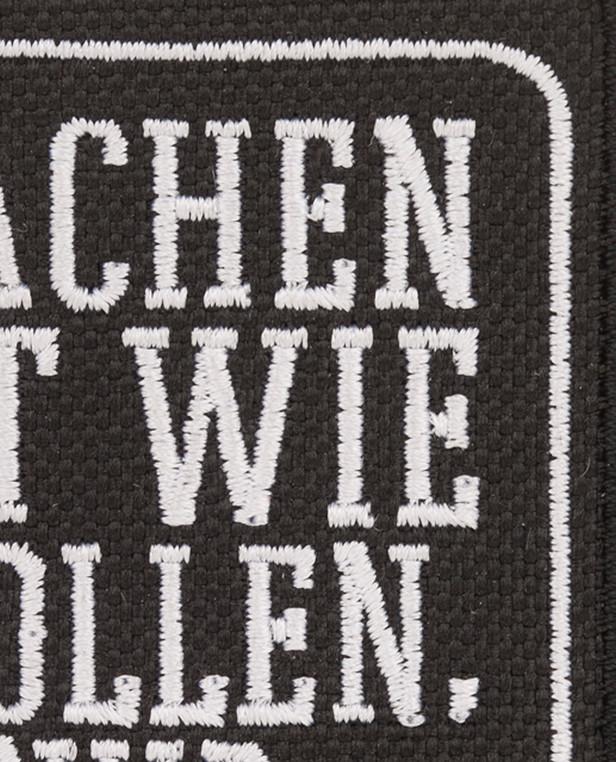 TACWRK Machen-Wollen Patch Schwarz