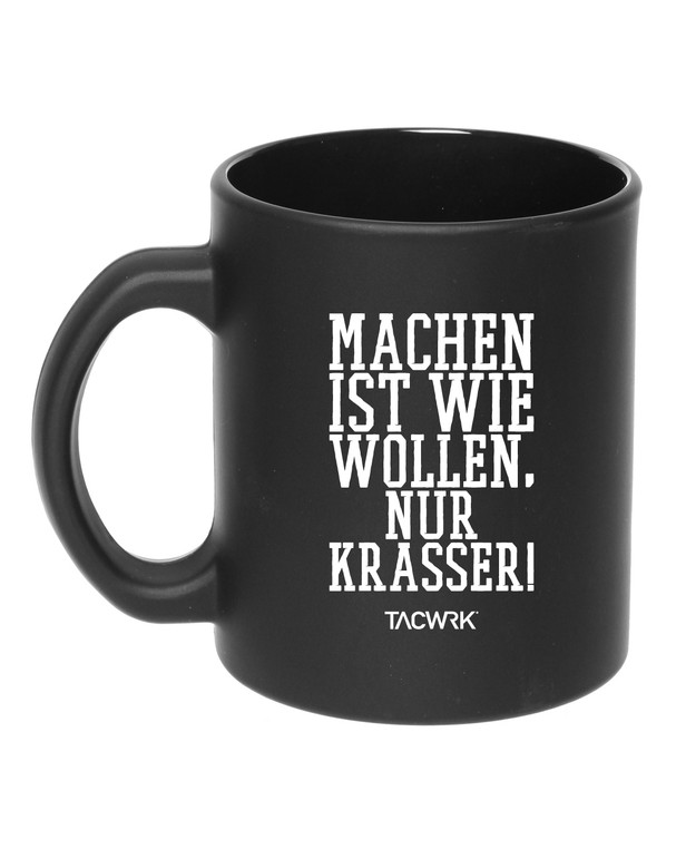 TACWRK Tasse Machen-Wollen Schwarz