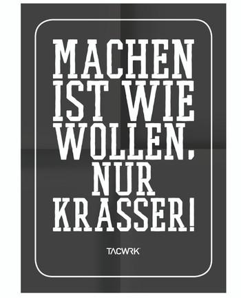 TACWRK - Machen-Wollen Poster Schwarz