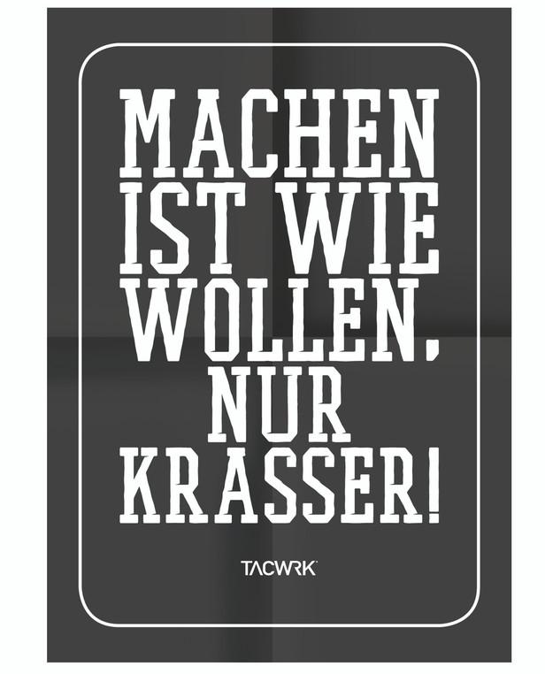 TACWRK Machen-Wollen Poster Schwarz