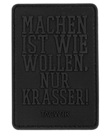 TACWRK - Machen-Wollen Patch PVC BlackOps Edition Schwarz