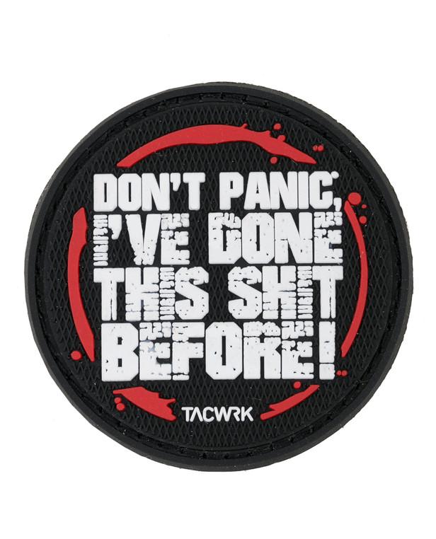 TACWRK Don´t Panic Patch PVC Schwarz