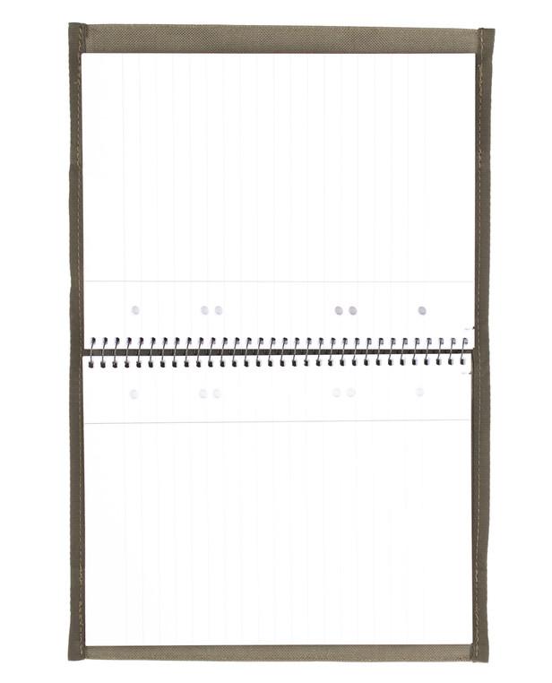 md-textil DINA5 Cover inkl. Oxford Block Steingrau Oliv