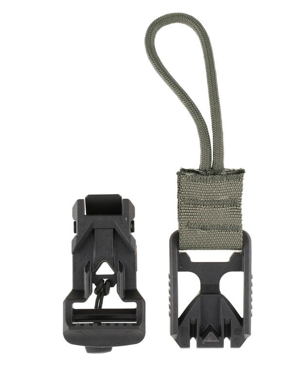 md-textil V-Buckle Adapter Cord Steingrau Oliv