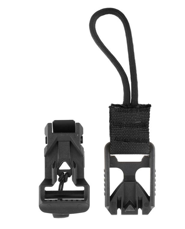 md-textil V-Buckle Adapter Cord Black