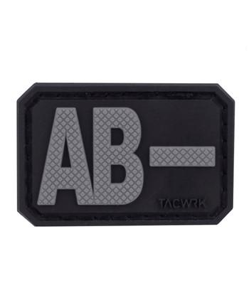 TACWRK - Blutgruppe PVC Patch AB- Grau